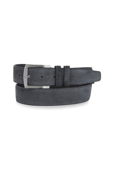 Kiton - Gray Suede Belt