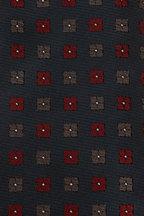 Brioni - Dark Green & Bordeaux Square Medallion Necktie