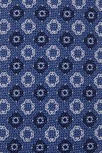 Ermenegildo Zegna - Medium Blue Floral Medallion Silk Necktie