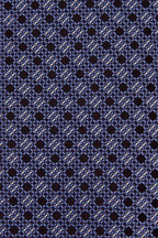 Ermenegildo Zegna - Medium Blue & Navy Squares Silk Necktie