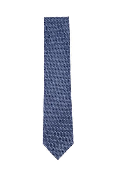 Ermenegildo Zegna - Light Blue Textured Weave Necktie