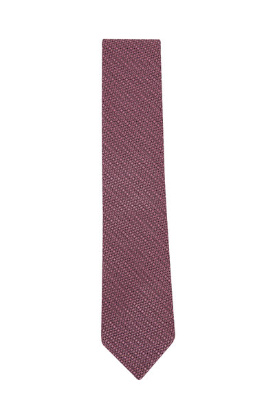 Ermenegildo Zegna - Pink Textured Weave Necktie