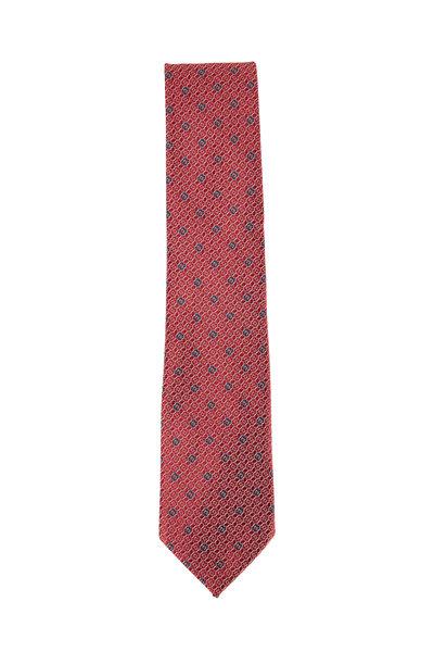 Ermenegildo Zegna - Red, White & Blue Geo Silk Necktie