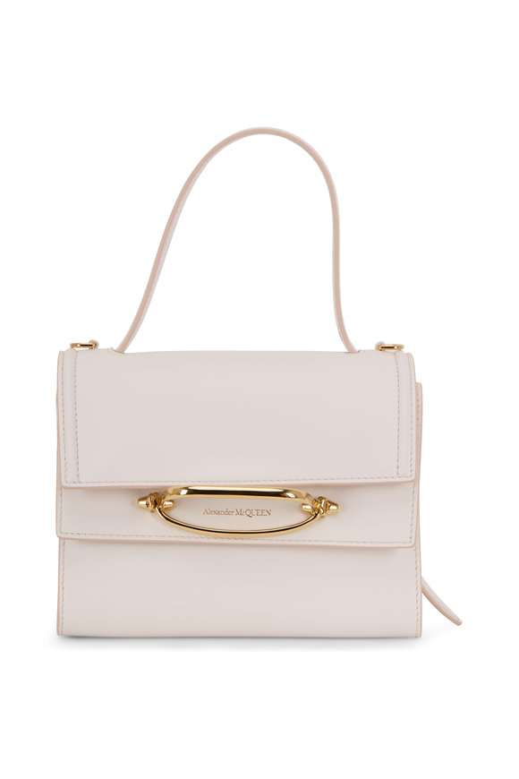 Alexander McQueen The Story Deep Ivory Leather Double-Flap Bag
