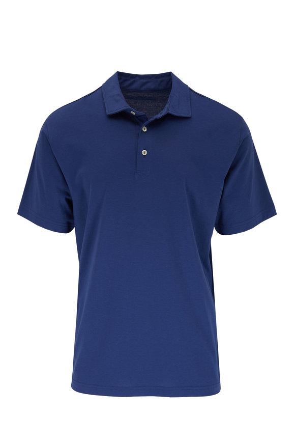 Peter Millar Seaside Solid Navy Blue Polo