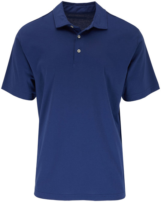 Peter Millar Seaside Solid Navy Blue Polo