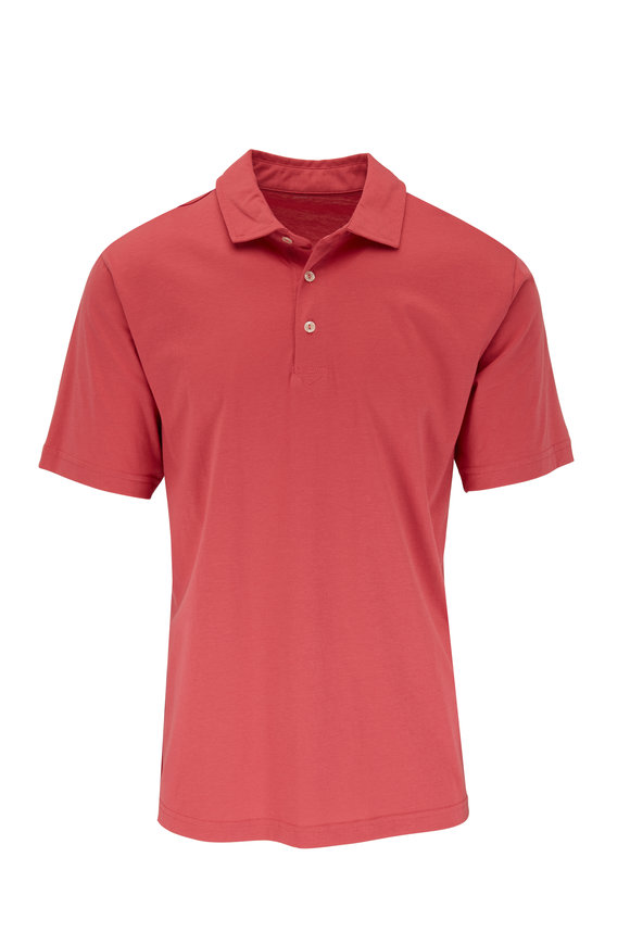 Peter Millar Seaside Solid Red Polo