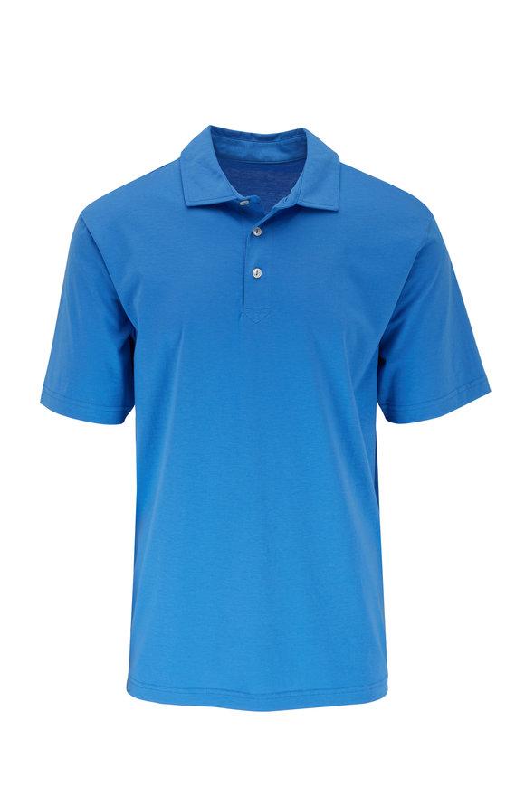 Peter Millar Seaside Solid Medium Blue Polo