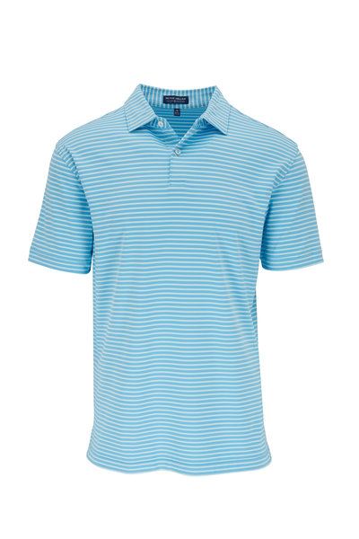 Peter Millar - Miles Blue Striped Performance Polo