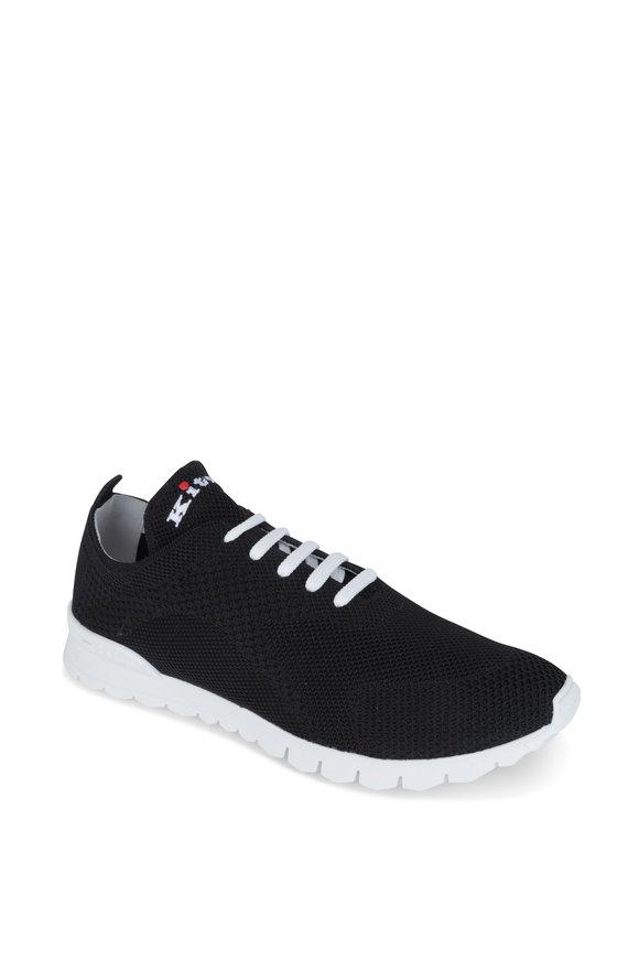 Kiton Black Knit Sneaker