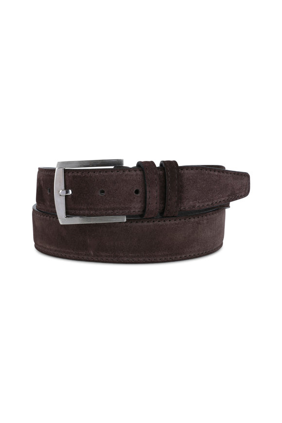 Kiton Brown Suede Belt