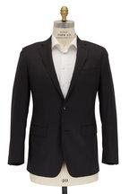 Atelier Munro - Solid Dark Gray Stretch Wool Suit