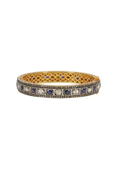 Loren Jewels - Yellow Gold & Silver Sapphire & Diamond Bracelet