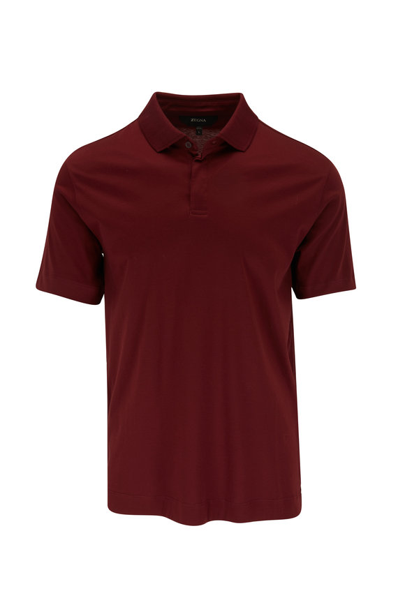 Z Zegna Rust Short Sleeve Polo