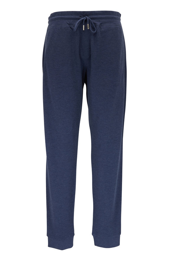 Peter Millar Navy Interlock Lounge Pant