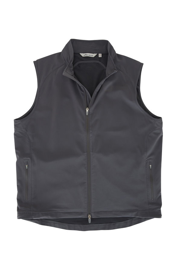 Peter Millar Crown Iron Zephyr Stretch Front Zip Vest