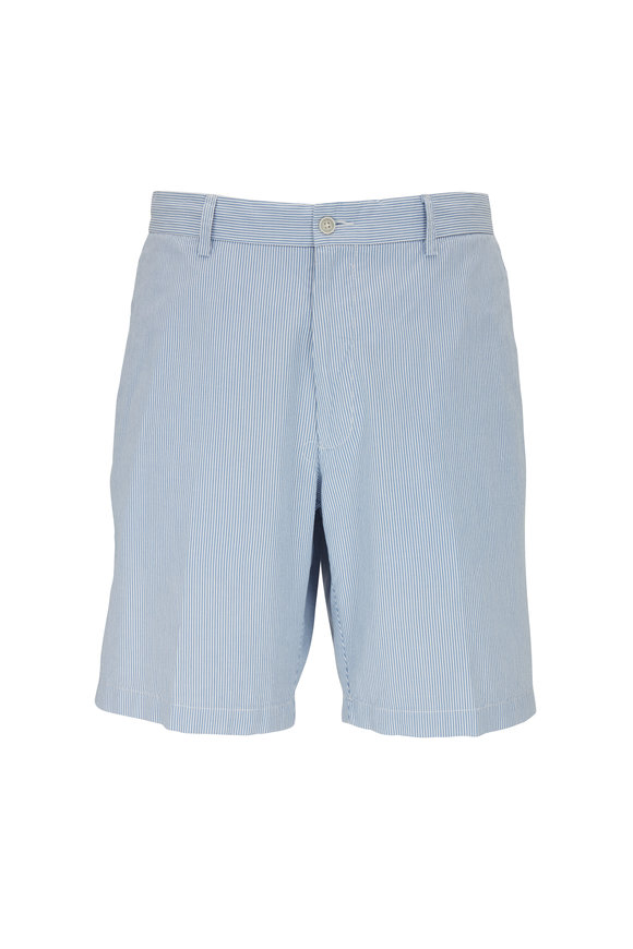 Peter Millar Crown Lake Blue Pinstripe Shorts