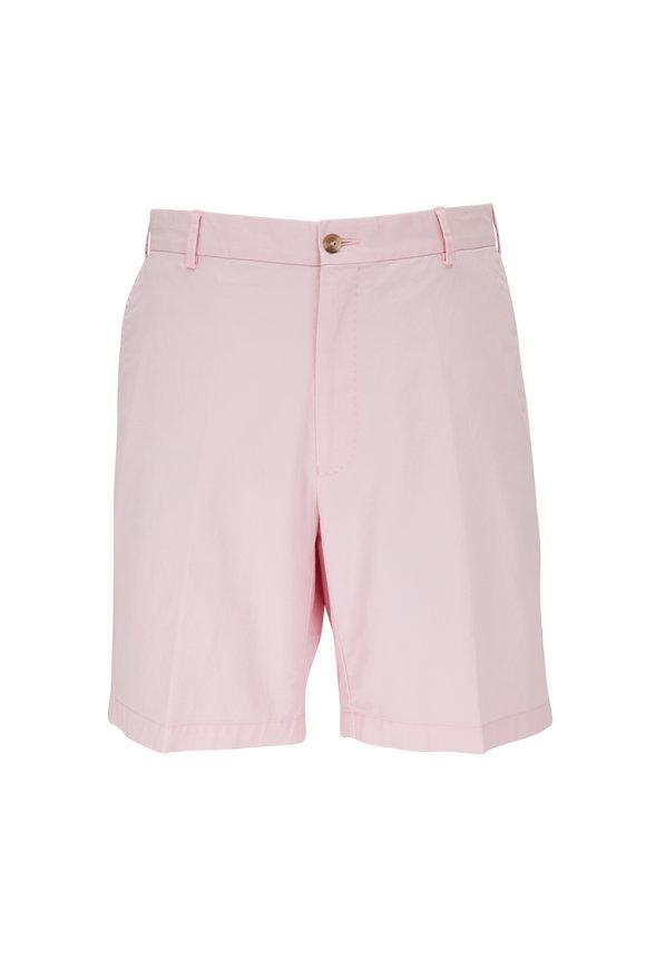 Peter Millar Crown Palm Pink Twill Shorts
