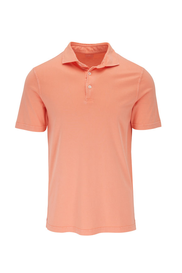 Fedeli Orange Jersey Short Sleeve Polo