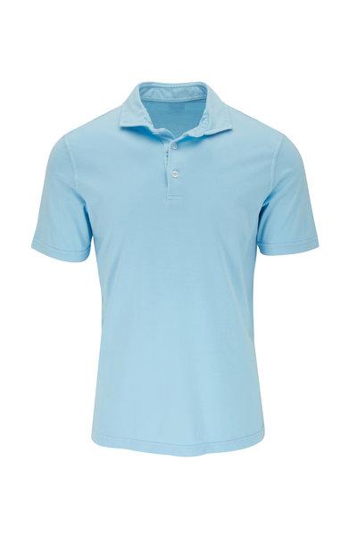 Fedeli - Blue Jersey Short Sleeve Polo