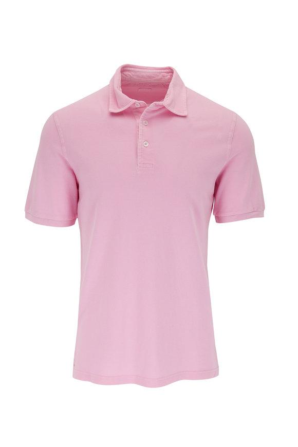 Fedeli Pink Piquè Short Sleeve Polo