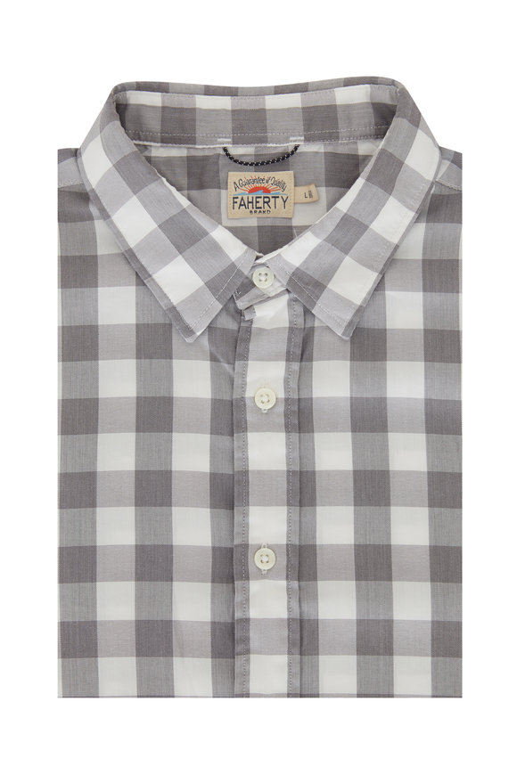 Faherty Brand Movement Great White Gingham Sport Shirt