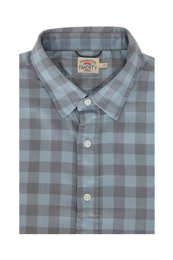 Faherty Brand Cota Movement Gingham Sport Shirt