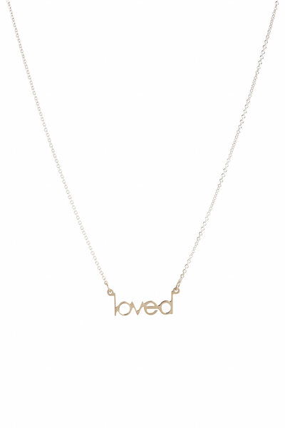 Genevieve Lau - 14K White Gold Mini Loved Necklace