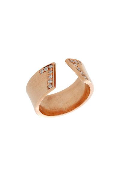 Genevieve Lau - 14K Rose Gold Diamond Seven Ring