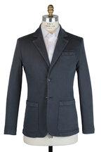 Kiton - Dark Gray Stretch Denim Sportcoat