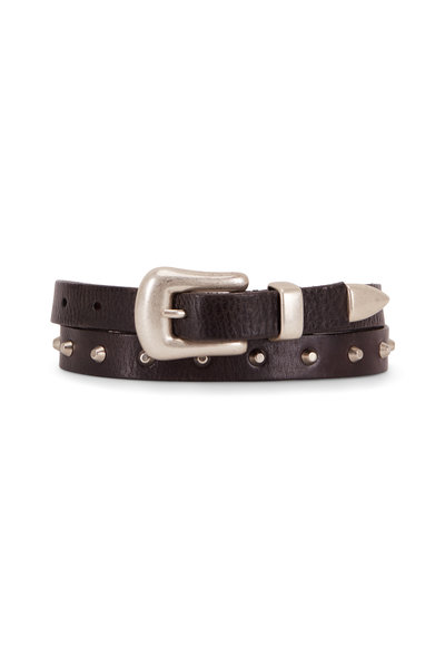 Golden Goose - Fort Worth Black Leather Studded Belt