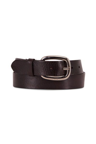 Golden Goose - Houston Black Leather Belt