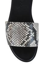 Jimmy Choo - Minea Natural Snake Print Leather Slide
