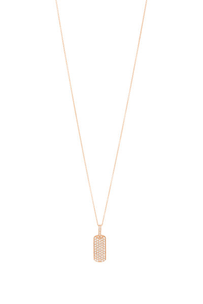 My Story Jewel - 14K Rose Gold Diamond Pendant Necklace