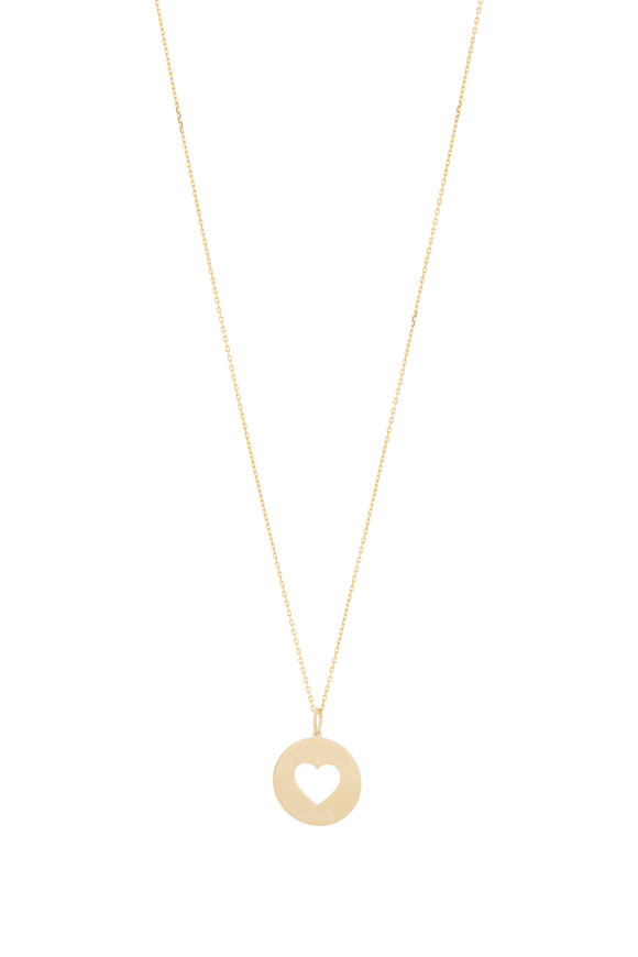 Genevieve Lau 14K Yellow Gold Choose Love Necklace
