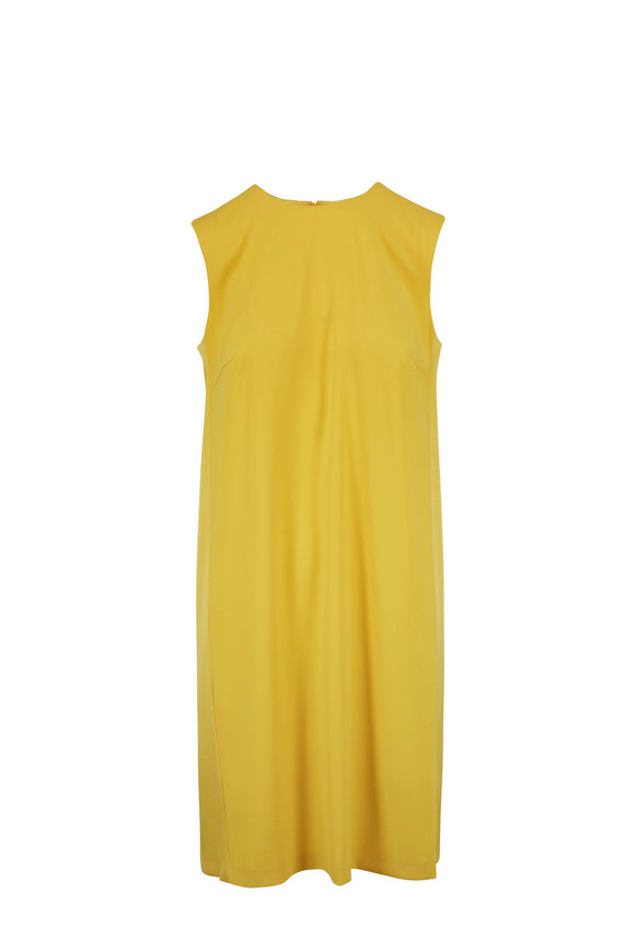 Escada Dehila Limonade Pleated Back Sleeveless Dress