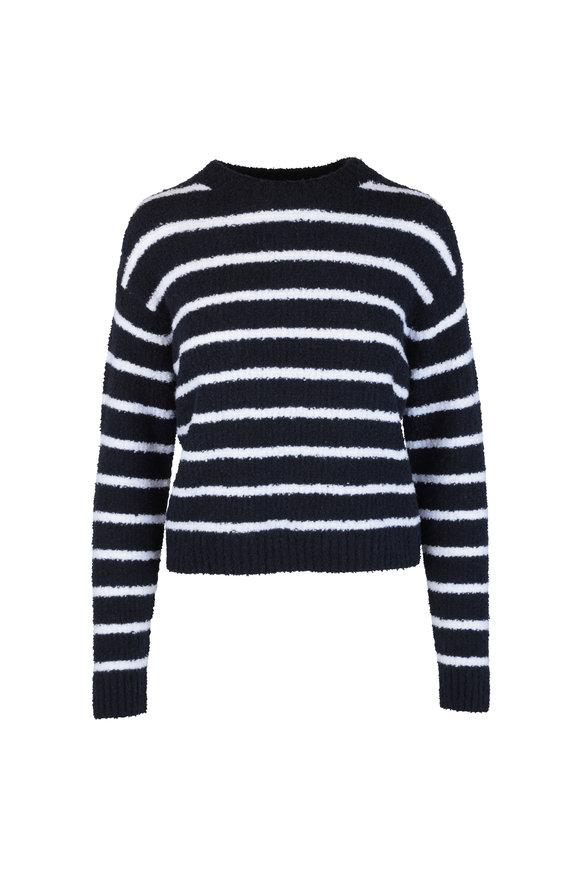 Vince Coastal Blue & White Striped Sweater