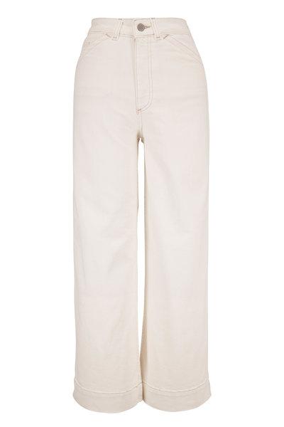 AG - Rosie White Workwear Wide Leg Jean