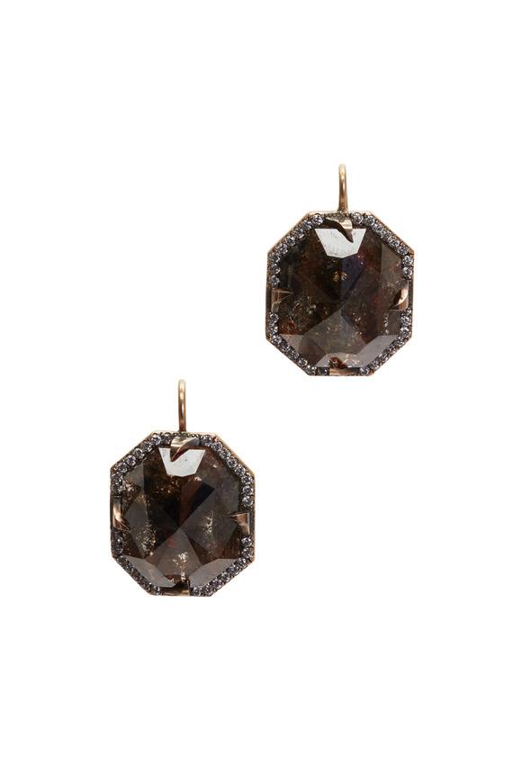Sylva & Cie 14K Rose Gold Multi-Diamond Drop Earrings