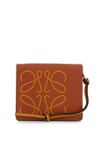 Loewe - Tan & Ochre Leather Logo Embossed Small Wallet