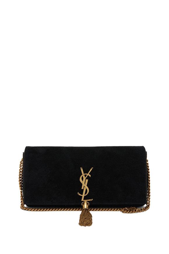Saint Laurent Kate Black Suede Tassel Shoulder Bag