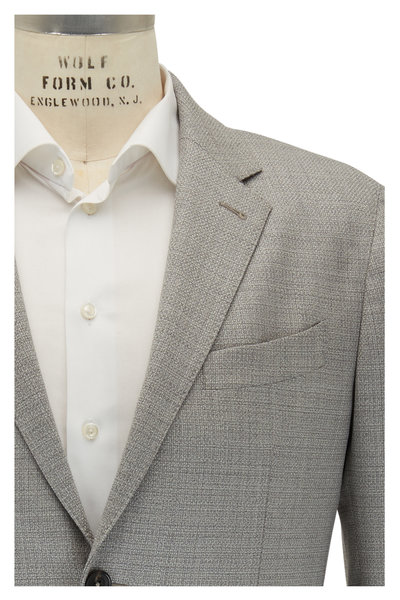 Ermenegildo Zegna - Gray Textured Wool Stretch Regular Fit Sportcoat