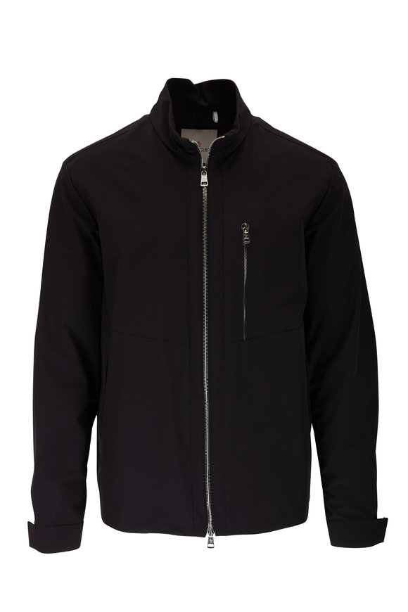 Moncler Vincin Giubbotto Black Zip Jacket
