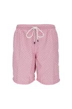 Fedeli - Pink Floral Printed Swim Trunks