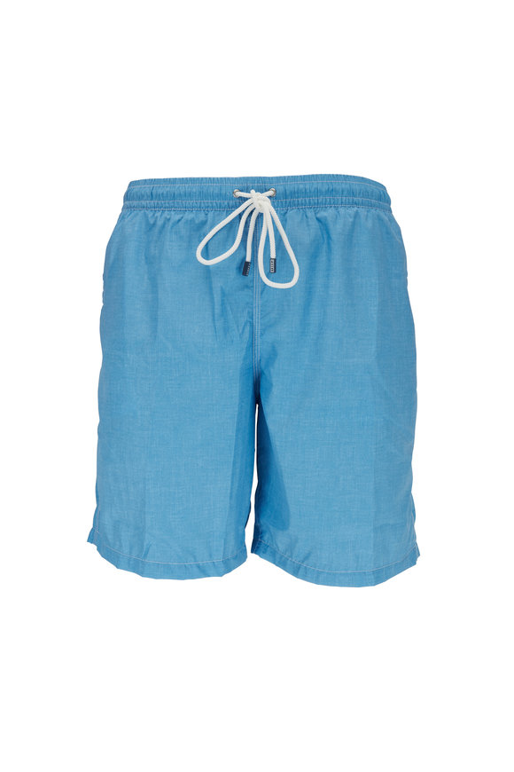 Fedeli Solid Blue Swim Trunks