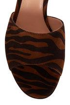 Gianvito Rossi - Cherie Brown & Black Zebra Print Suede Mule, 70mm