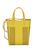 Tom Ford - Yellow Perforated Leather North South Tote