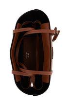 Prada - Cognac Vitello Contrast Black Lining Large Tote