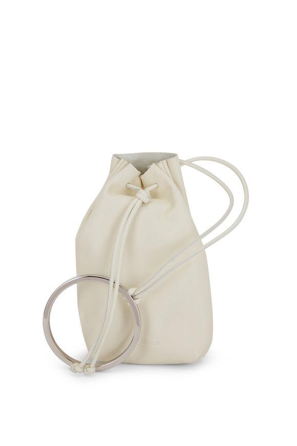 Jil Sander Yogurt Leather Bracelet Handle Mini Bucket Bag