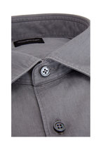 Ermenegildo Zegna - Light Gray Tailored Fit Sport Shirt